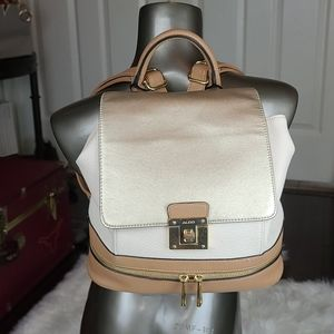 Aldo | Champagne Gold Cream and Brown Backpack